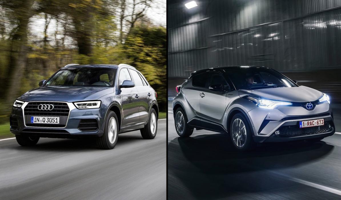 ¿Cuál es mejor, Audi Q3 CoD o Toyota C-HR 2017?