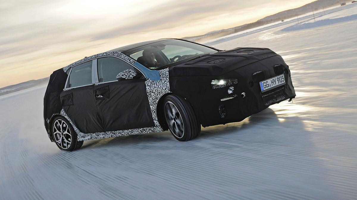 Hyundai i30 N  prueba invernal