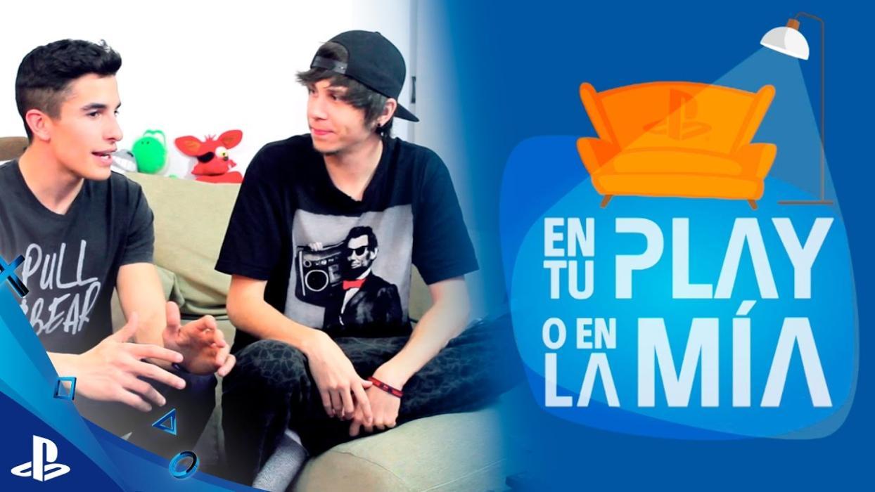 Marc Márquez se lo pasa en grande con El Rubius y una PS4