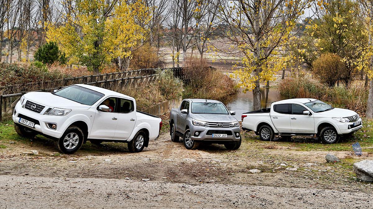 Comparativa pick-up Mitsubishi L200 Nissan Navara NP300 Toyota Hilux