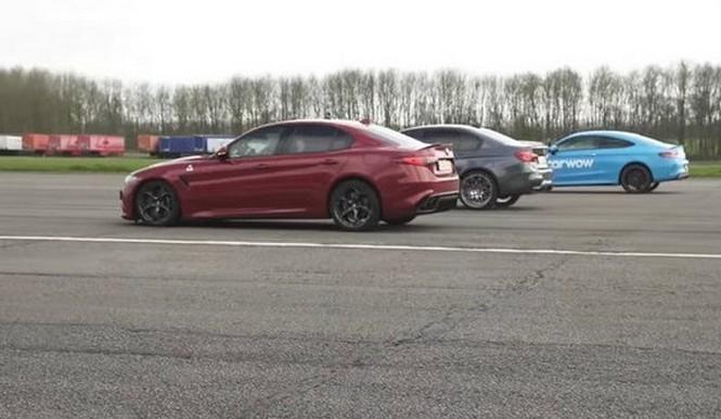 Vídeo: Alfa Romeo Giulia QV VS BMW M3 VS Mercedes-AMG C63 S