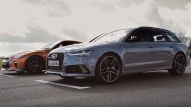 Vídeo: Audi RS6 Avant VS Nissan GT-R