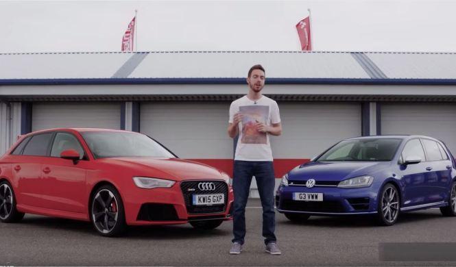Evo enfrenta al Audi RS3 Sportback y al Volkswagen Golf R