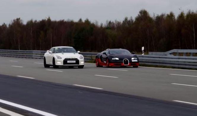 Otro drag, pero este muy bruto: GT-R vs Veyron