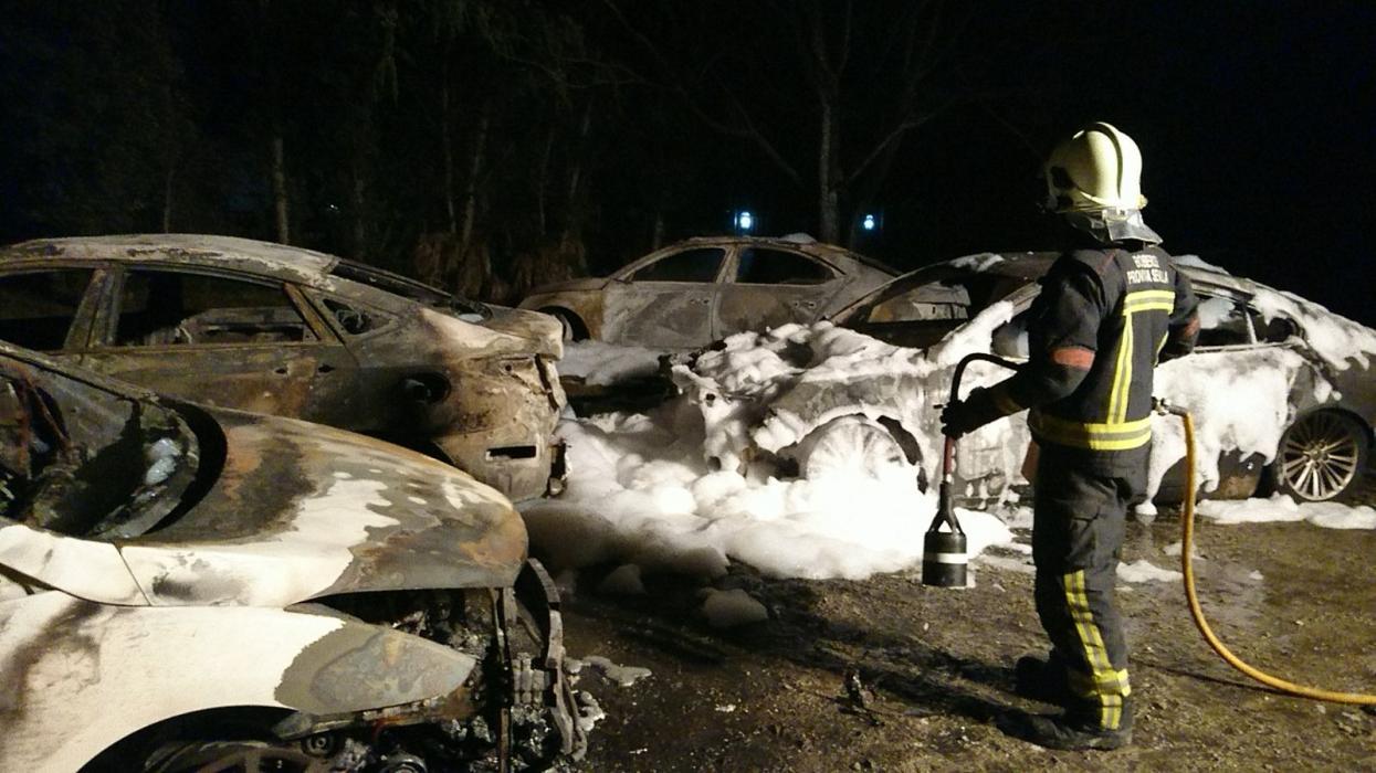 Nuevos detalles sobre la quema de 9 coches de Cabify