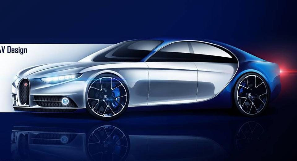 ¿Será así el futuro Bugatti de cuatro puertas del futuro?
