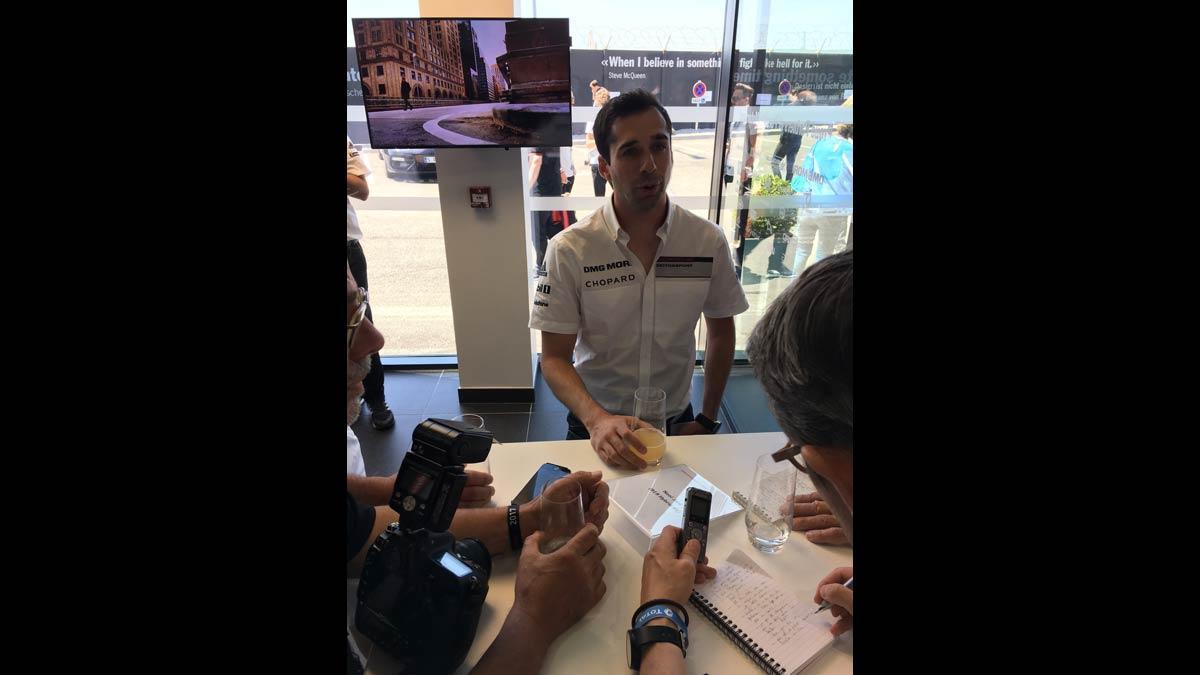 Neel Jani hablando sobre las 24h de Le Mans 2017