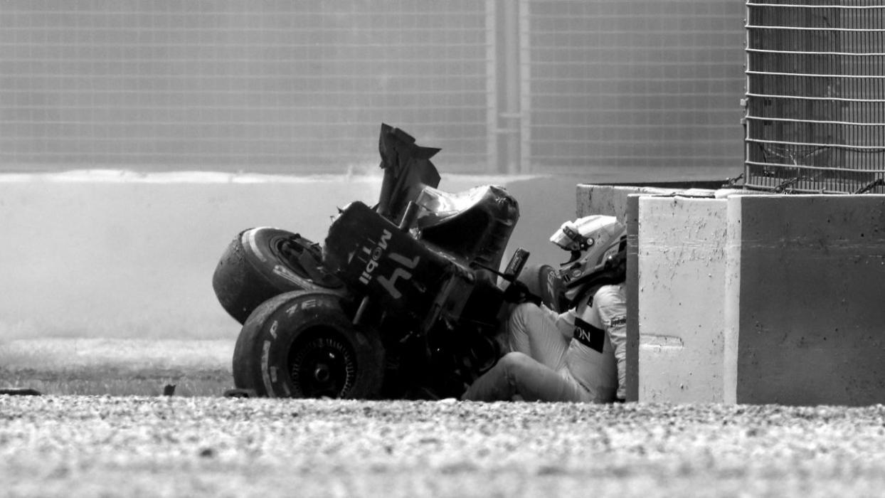 Accidente de Fernando Alonso en Australia