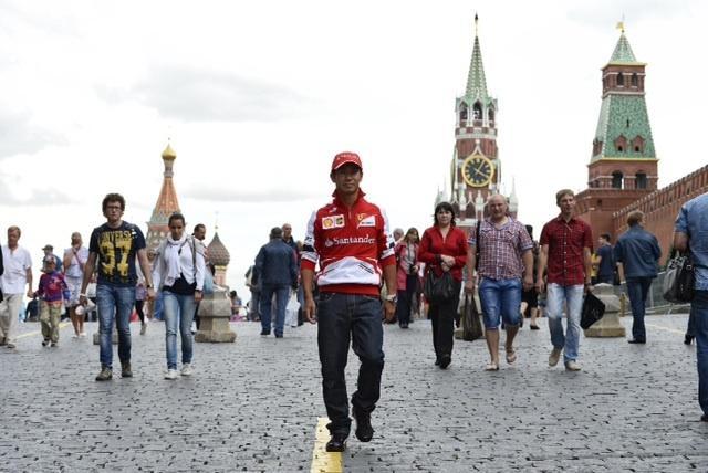 Accidente de Kobayashi con el Ferrari en Moscú