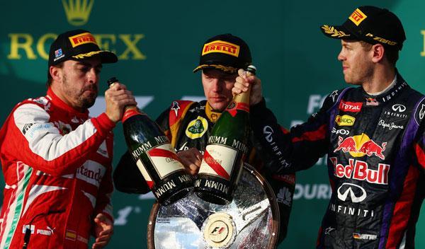 Alonso - Raikkonen - Vettel
