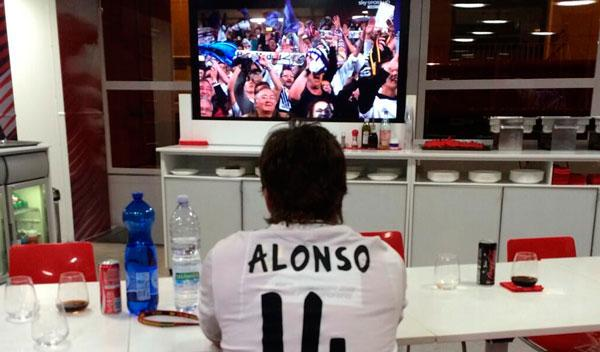 Así vio Fernando Alonso la final de la Champions