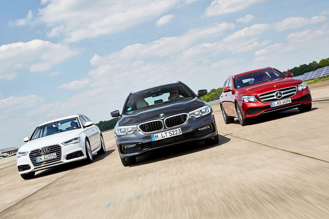 Audi A6 Avant, Mercedes E Estate, BMW Serie 5 Touring