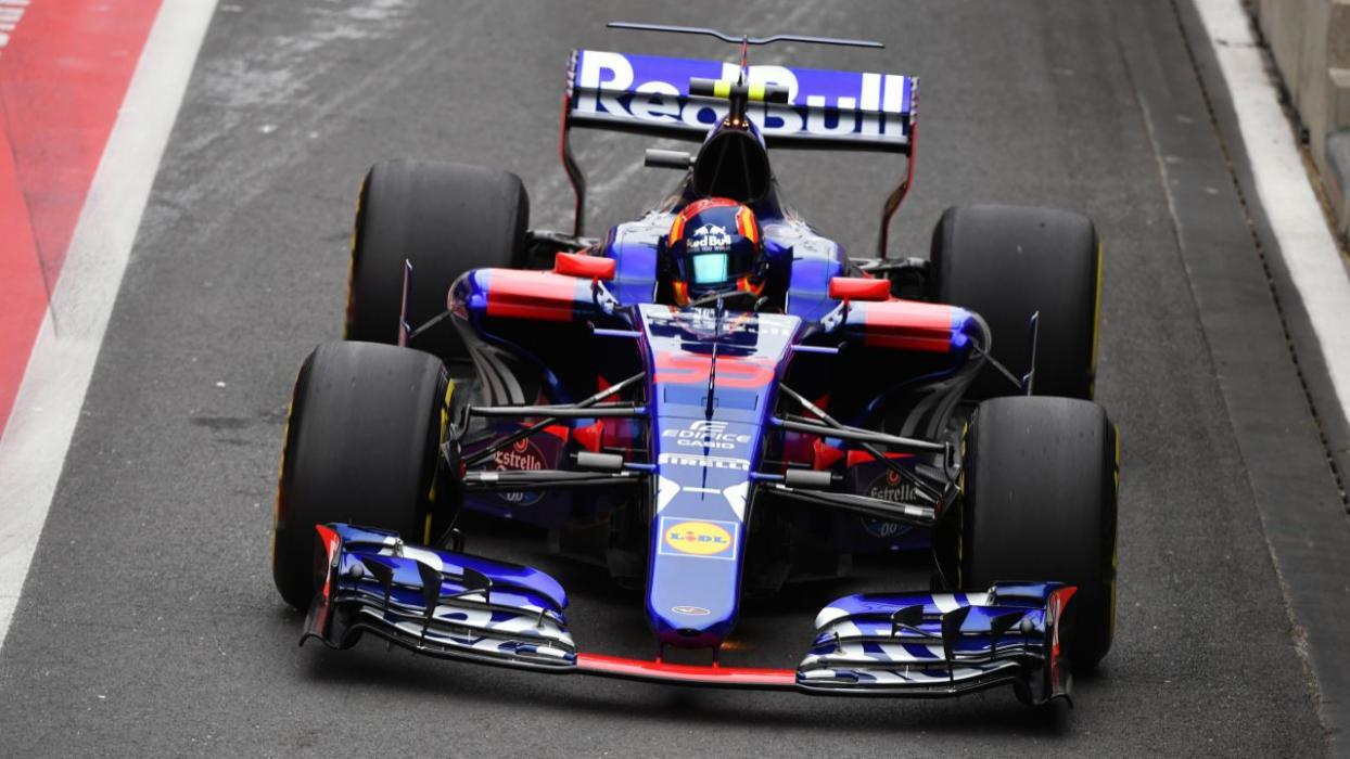 Carlos Sainz, durante la clasificación para el GP de Silverstone