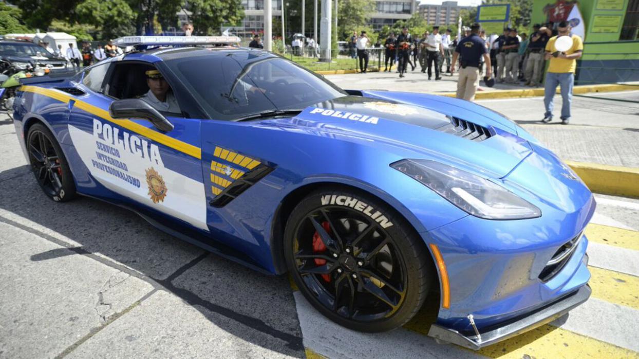 Chevrolet Corvette de la Policía de Guatemala