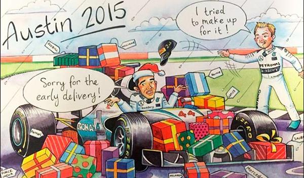 Ecclestone felicita la Navidad con su tradicional postal