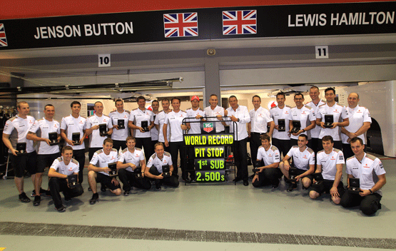 Equipo McLaren - Record Pit Stop - Tag Heuer