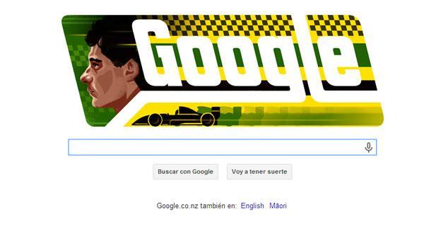 Google homenajea a Ayrton Senna con un doodle