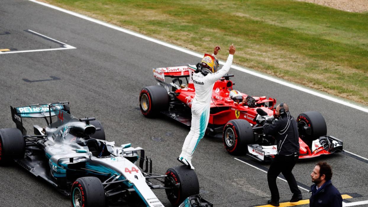Lewis Hamilton, tras la clasificación de Silverstone