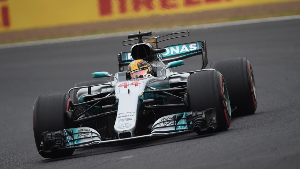 Lewis Hamilton, en el GP de Silverstone