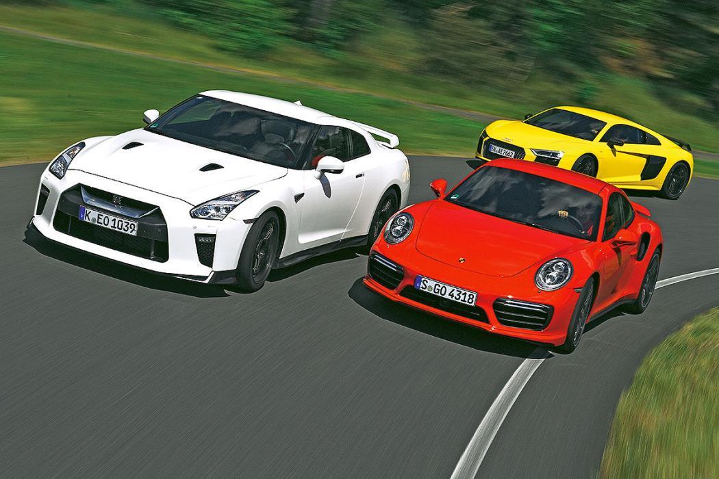 Nissan GT-R Track Edition/Audi R8 V10 plus/Porsche 911 Turbo S: