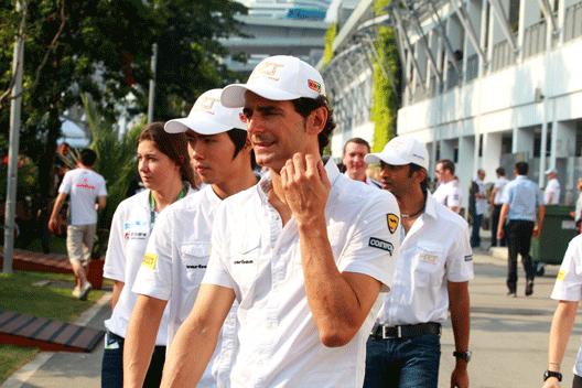 Pedro de la Rosa - HRT - Singapur 2012
