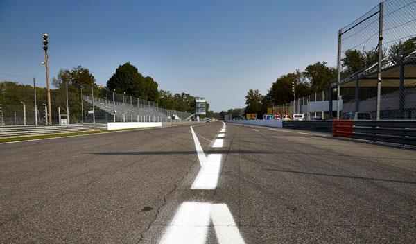Recta de meta circuito de Monza