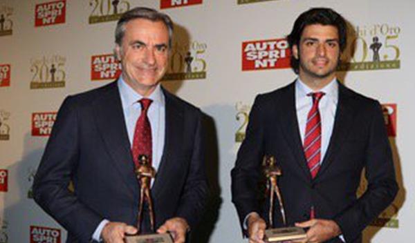 Sainz recibe el Caschi d'Oro al mejor debutante en 2015