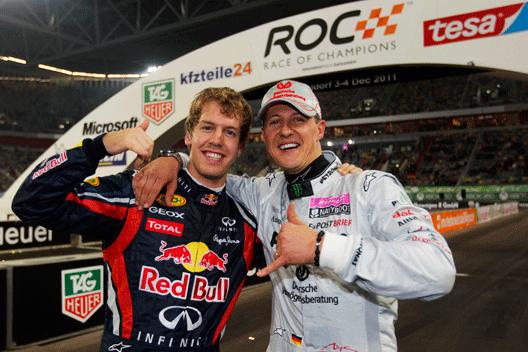 Sebastian Vettel - Michael Schumacher - Race of Champions