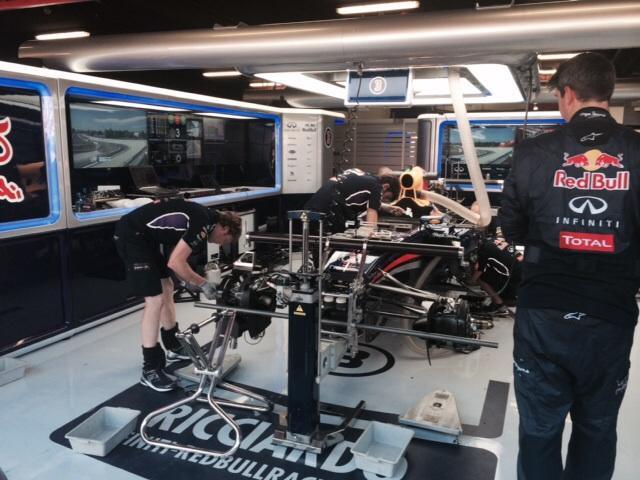 Un viaje a los boxes del GP de España