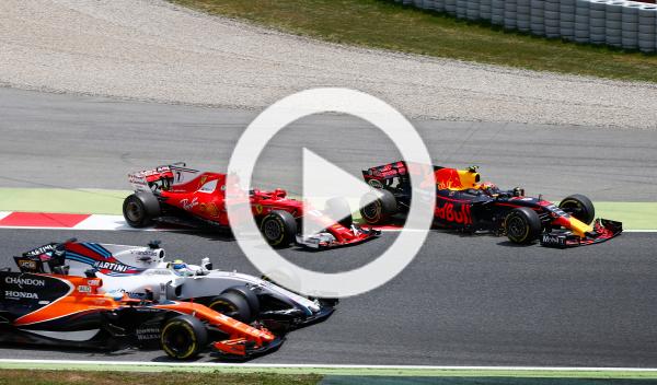 Vídeo: el accidente de Räikkönen y Verstappen en Montmeló