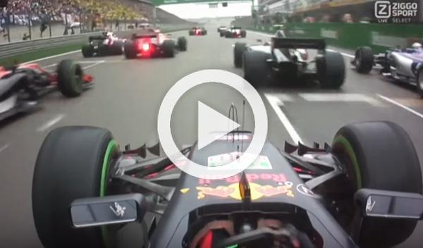Vídeo: la espectacular salida de Max Verstappen en China