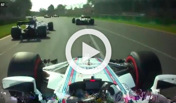 Vídeo: la gran salida de Lance Stroll en el GP de Australia