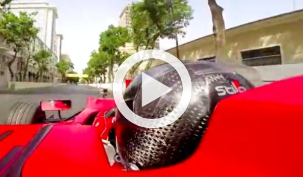 Vídeo: primera vuelta al circuito de Bakú