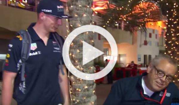 Vídeo: El 'troleo' de Verstappen a un periodista de su país
