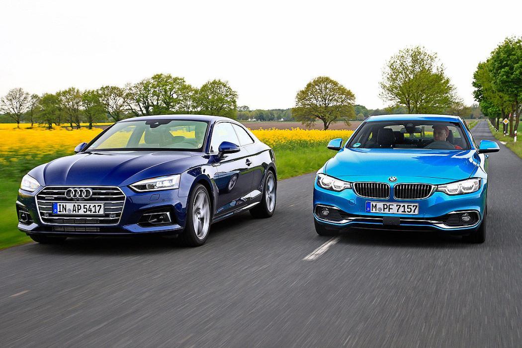 Audi A5 vs BMW Serie 4 facelift