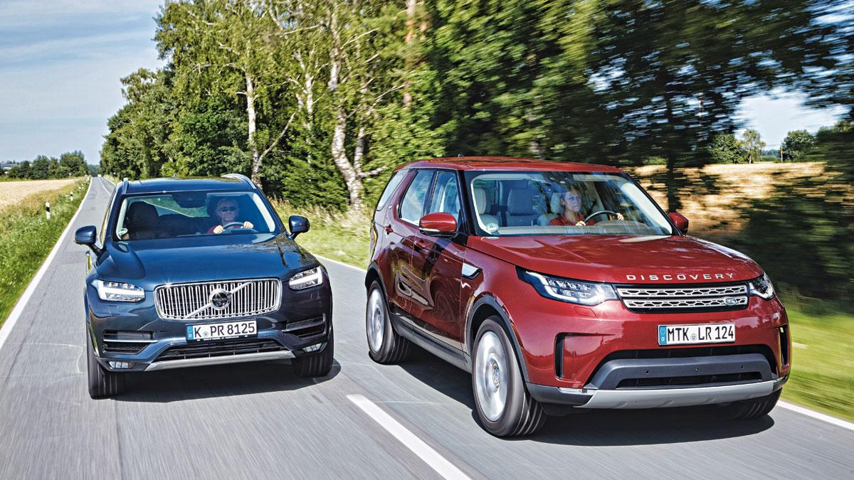 Land Rover Discovery SD4 vs Volvo XC90 D5