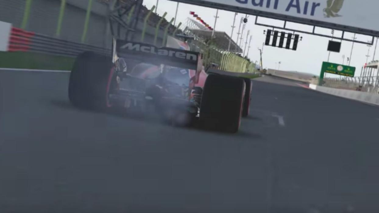 Problema de Alonso en el videojuego F1 2017