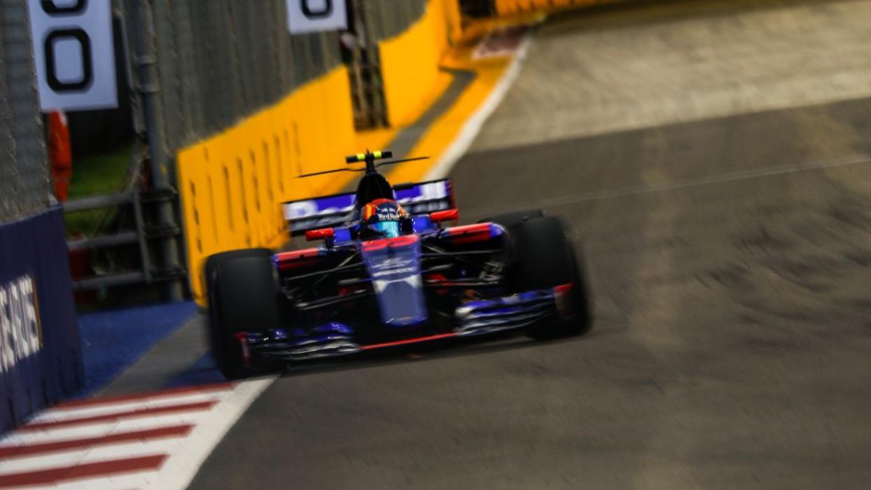 Carlos Sainz, durante la clasificacion del GP Singapur