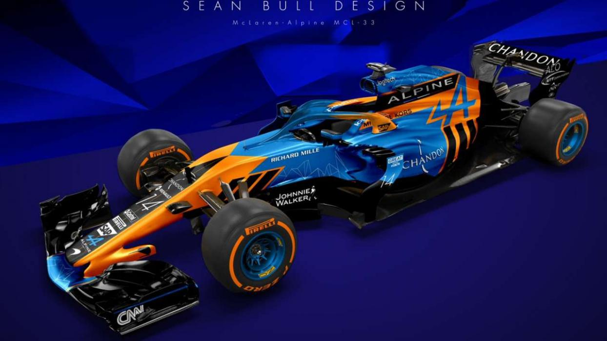 as podr a ser el mclaren renault de alonso en 2018 f1. Black Bedroom Furniture Sets. Home Design Ideas
