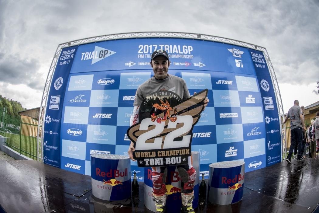 Toni Bou, campeón del mundo de trial por 22ª vez