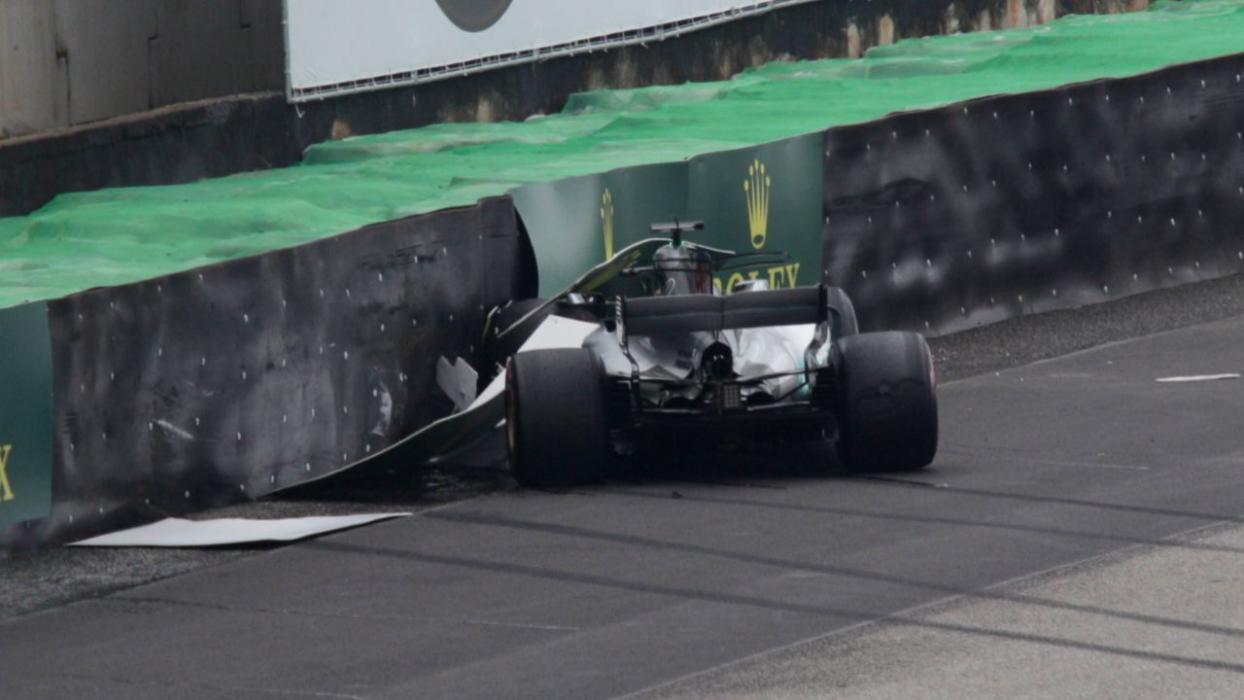 Accidente de Hamilton en el GP de Brasil