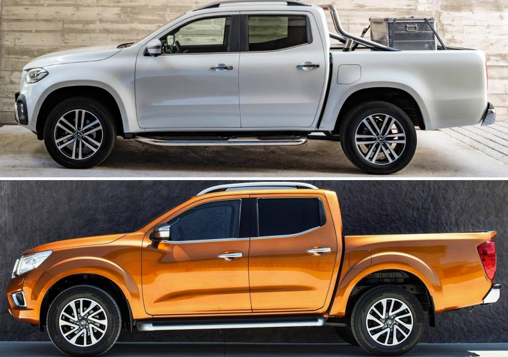 Diferencias Mercedes Clase X y el Nissan Navara
