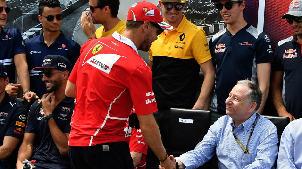 Sebastian Vettel y Jean Todt