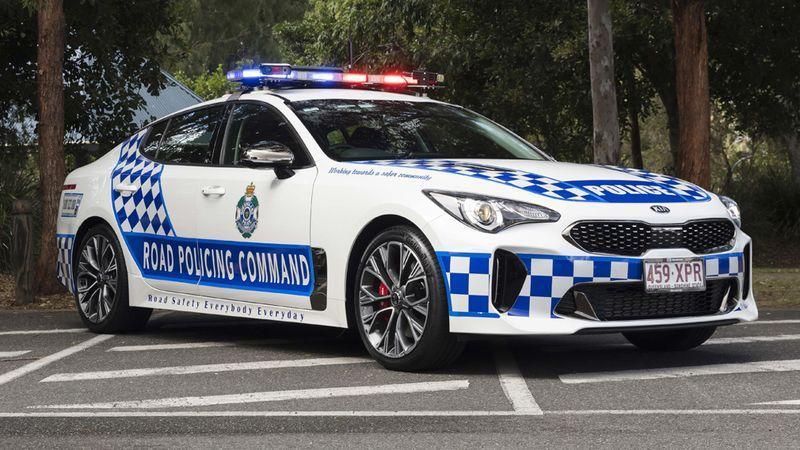 Kia Stinger de la policía