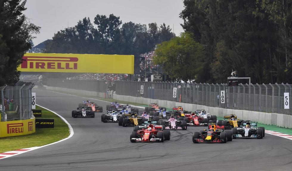 Salida del GP México F1 2017